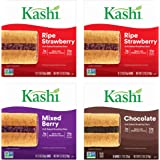 Kashi, Soft Baked Breakfast Bars, Variety Pack, Vegan, 2- Ripe Strawberry, 1 - Mixed Berry, and 1 Chocolate bars(4 boxes, 24
