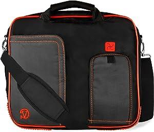 Vangoddy Red Laptop Briefcase Messenger Shoulder Travel, Business, School Bag for Acer 10 inch 13 inch Laptops