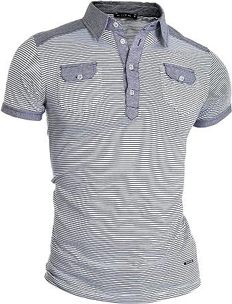 D&R Fashion Gris Hombre de la Manera Camisa de Polo Dos Bolsillos Delanteros de Fitness: Amazon.es: Ropa y accesorios
