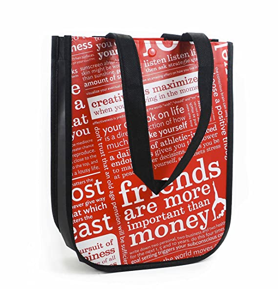 e12ad780dfd Amazon.com   Lululemon Red with Graphic Print Small Reusable Tote ...
