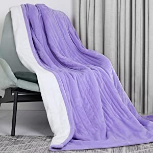 Electric Throw Blanket, VICSAINTECK Cozy Flannel Heated Throws Blankets with 3Hours Auto Shut Off for Home Office Use, ETL Certified, 6 Heating Levels, Fast Heating & Machine Washable (50x60in)