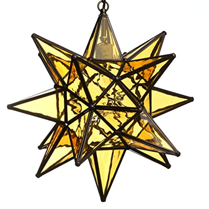 Amazon.com: Estrella de vidrio colgante luces, GL15AM: Home ...