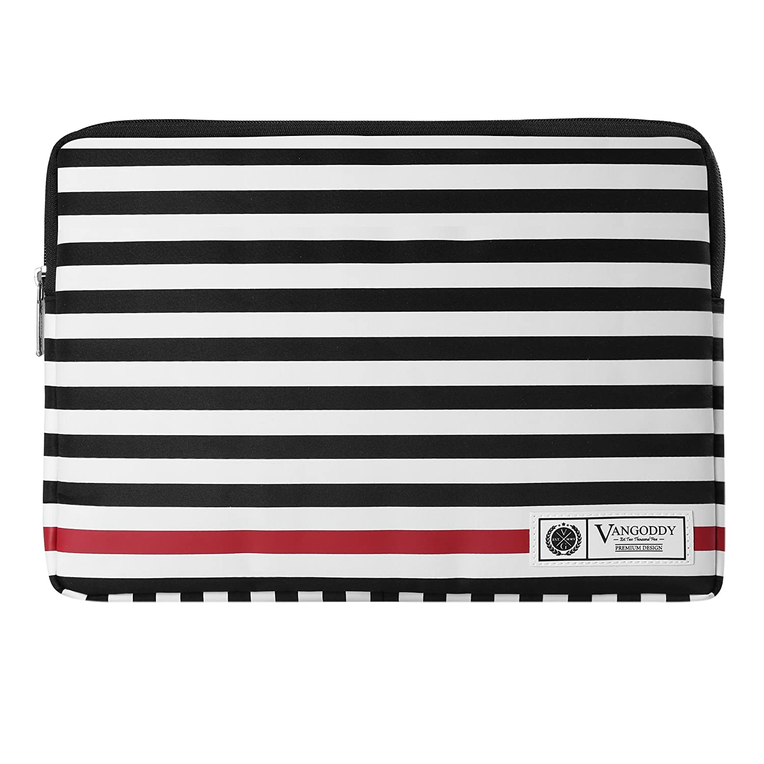 ThinkPad Yoga Series 11.6 12 12.2 12.5 13.3 inch Tablet Laptop with Micro USB Cable Vangoddy Luxe R Series Black White Stripe Lightweight Padded Zipper Carrying Sleeve for Lenovo IdeaPad