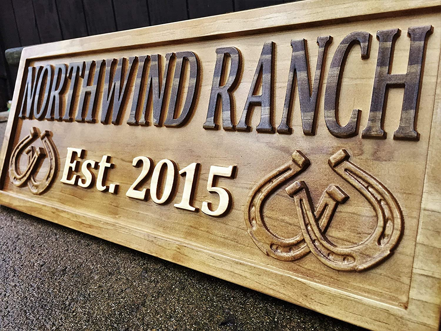 """LARGE CUSTOM Horse Sign Name Plate Stall 18/"""" Personalized to your Specification"""