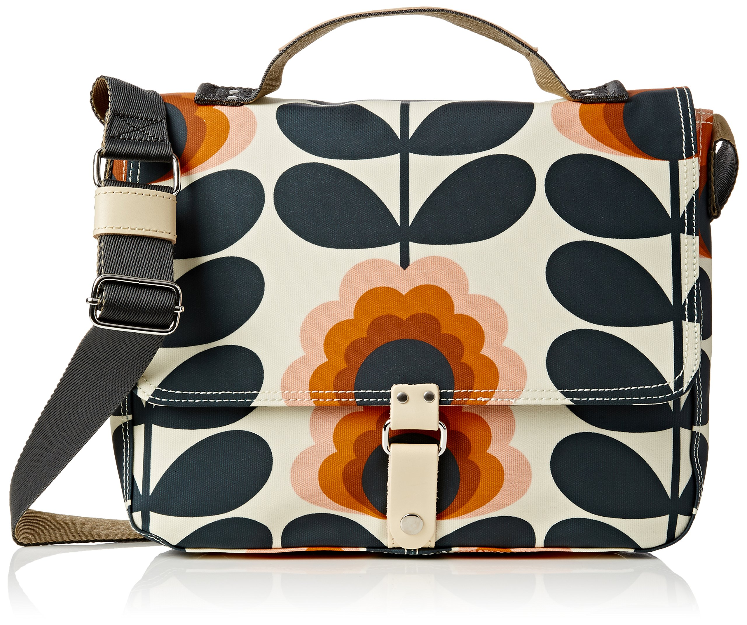 Orla Kiely Summer Flower Stem Satchel. , Sunset