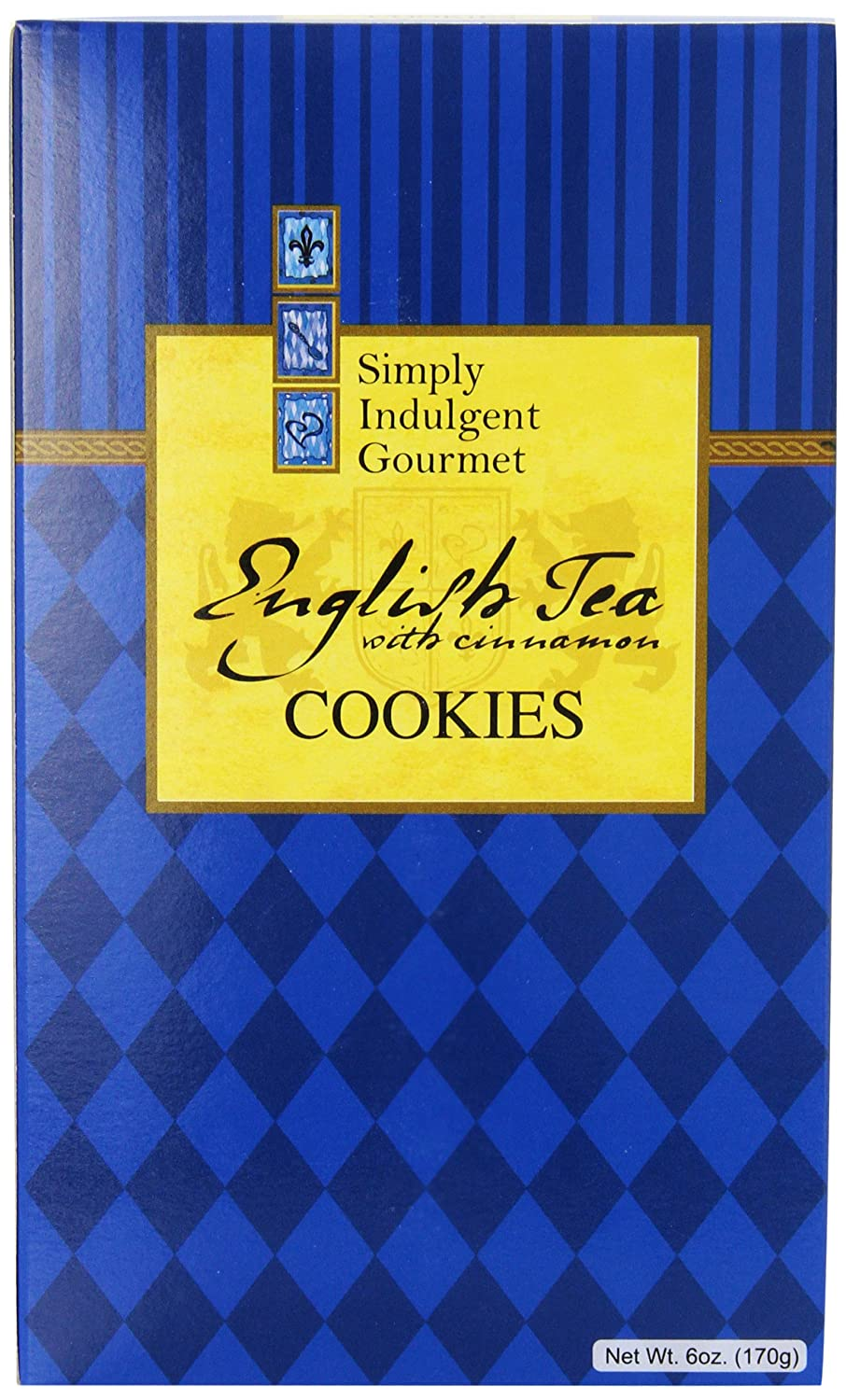 Amazon.com: Simply Indulgent Gourmet English Tea with Cinnamon Cookies, 6-Ounce Blue Gift Boxes (Pack of 12)
