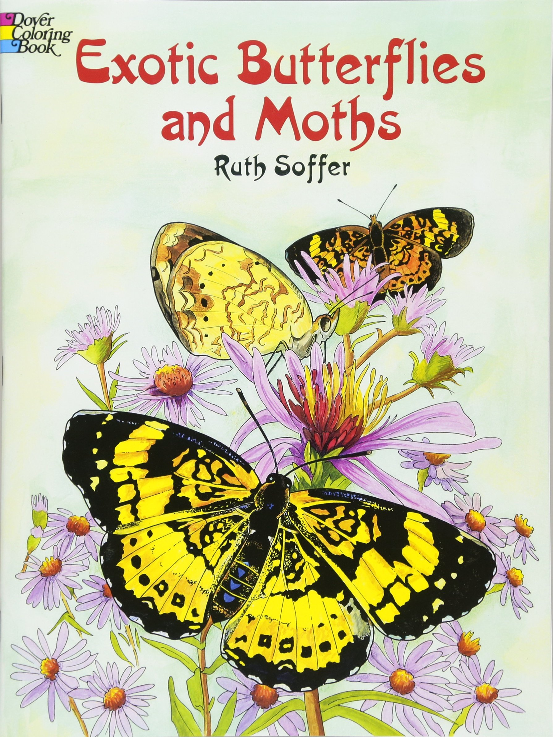 Exotic Butterflies and Moths CB (Dover Nature Coloring Book)