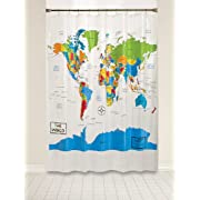 Saturday Knight The World Shower Curtain, Multi