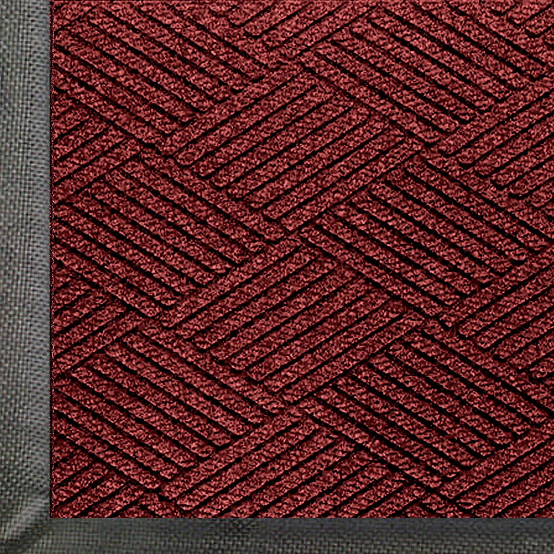 Maroon 3//8 Thick SBR Rubber Backing M+A Matting 2297 Waterhog Eco Premier Fashion PET Polyester Fiber Indoor//Outdoor Floor Mat 6 Length x 4 Width