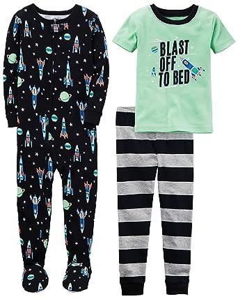 c81f3626caeb Amazon.com  Carter s Boys  3-Piece Cotton Pajama Set  Clothing