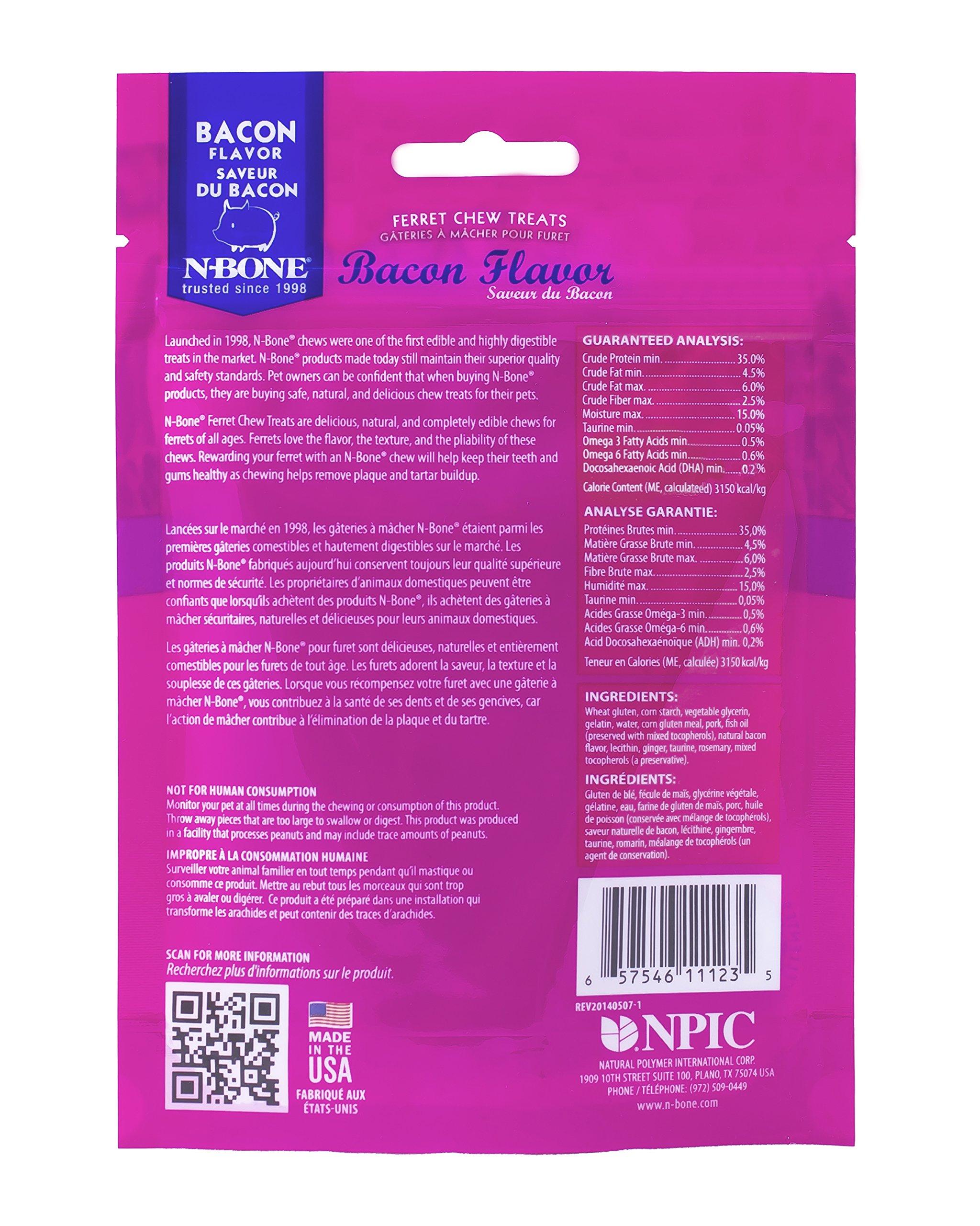 N-Bone 1.87 Oz. Ferret Bacon Flavor Chew Treats by N-Bone (Image #2)