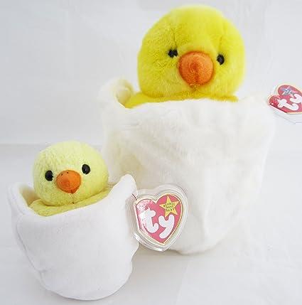 Amazon.com  Ty Beanie Buddy   Baby Chick Set - Eggbert  Toys   Games ada73493a733