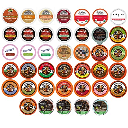 Flavored Coffee, Tea, Cider, and Hot Chocolate Single Serve Cups For Keurig K Cup Brewers Variety Pack Sampler, 50 Count: Amazon.com: Grocery & Gourmet Food