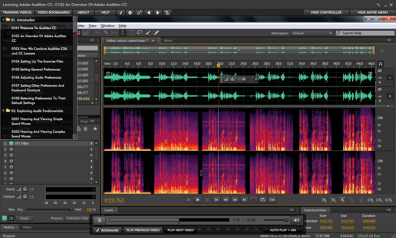 Learning Adobe Audition CC [Online Code] by Infiniteskills