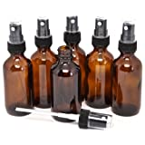 Amazon Price History for:6, Amber, 2 oz Glass Bottles, with Black Fine Mist Sprayers
