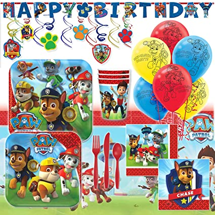 Image Unavailable Not Available For Color Deluxe Paw Patrol Childrens Birthday Party Pack Decoration