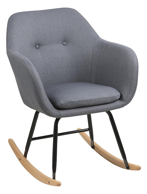 Schaukelstuhl Modern ac design furniture 64790 schaukelstuhl stoff dunkelgrau 71 x 57