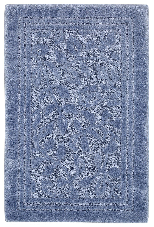 Mohawk Home Wellington Blue Vine Scroll High Low Plush Bath Rug, 30x50, Blue