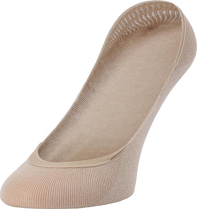 Merry Style Lot de 5 Chaussettes Invisibles Femme Prot/ège-pied pour Ballerines Coupe Basse BS17