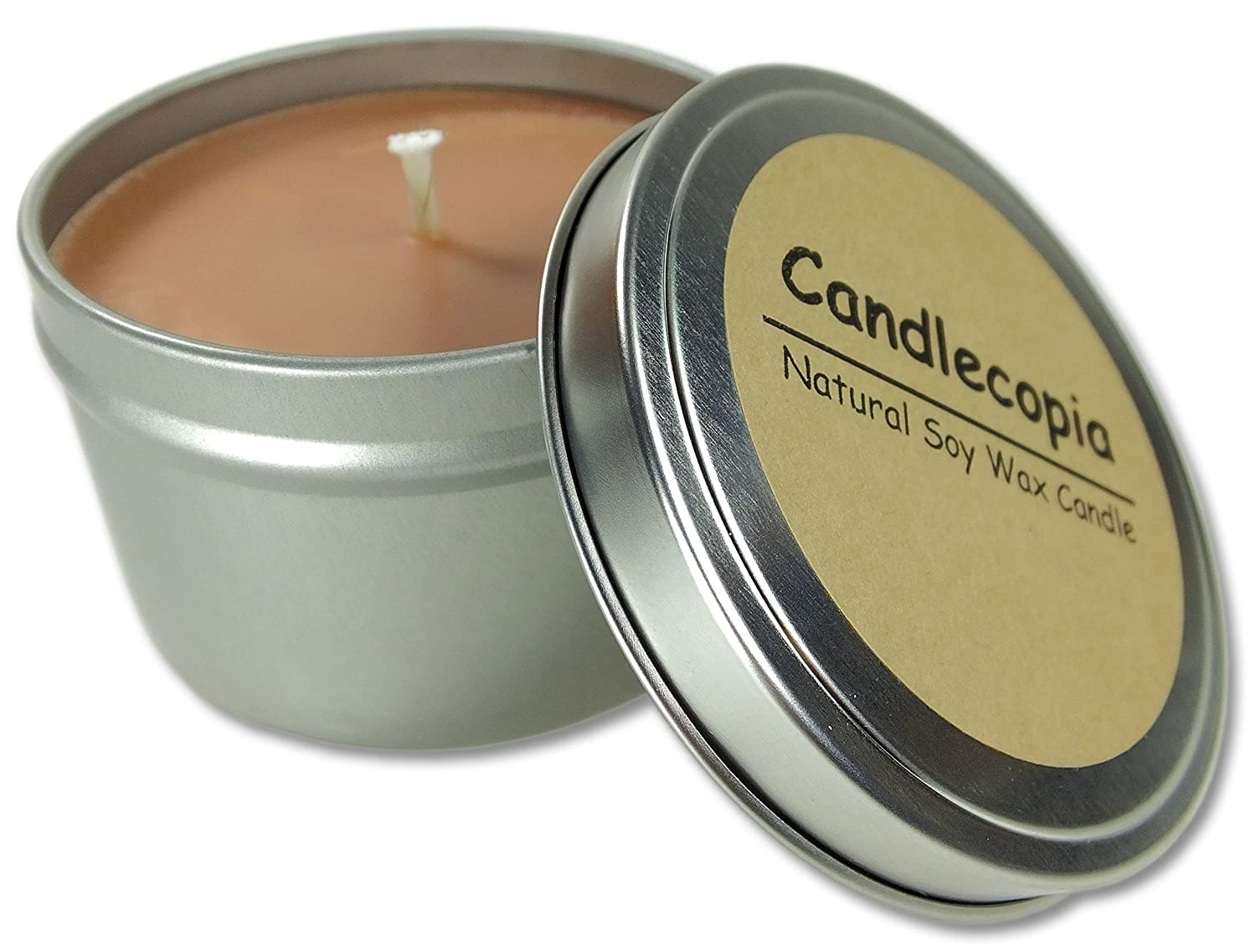 Candlecopia Wild West Strongly Scented Sustainable Vegan Natural Soy Travel Tin Candle