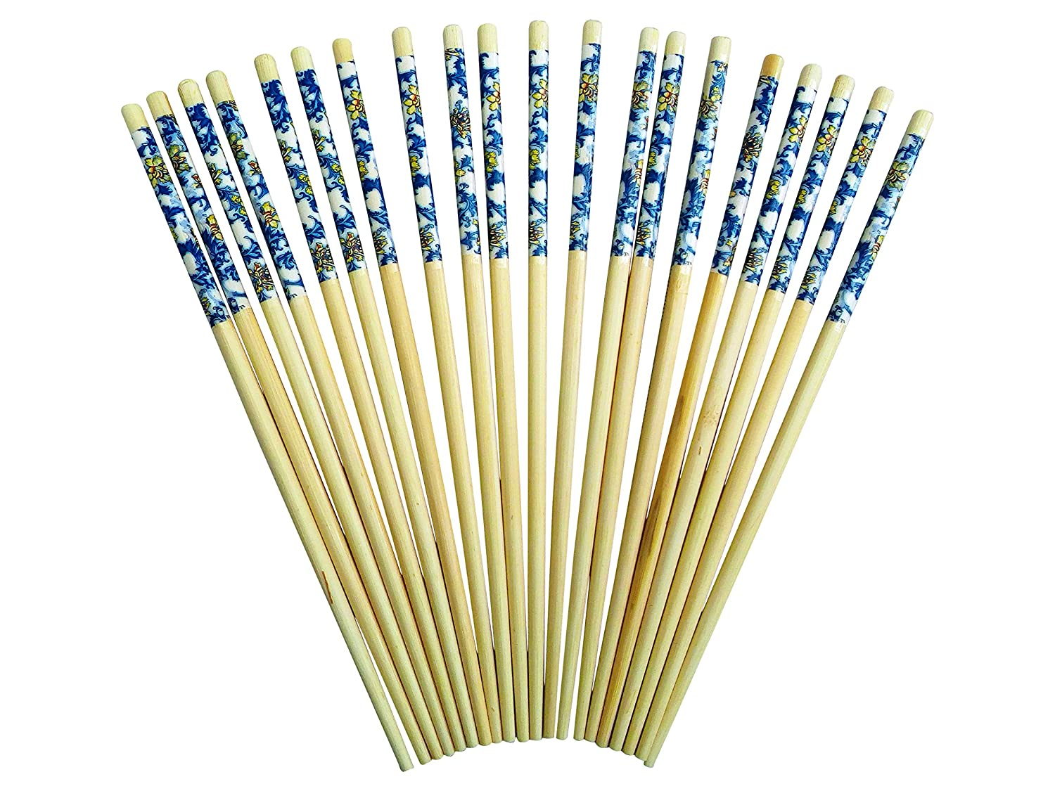 ChopSticks - 10 Pairs of Bamboo Wooden Chop Stick Blue Dragon Conoor