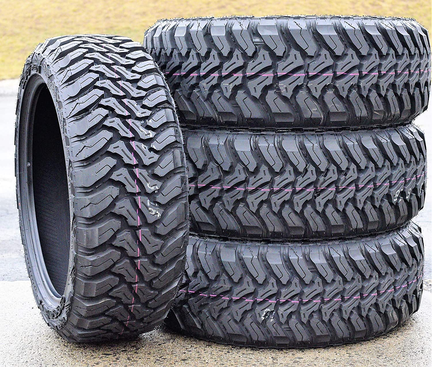 Set of 4 (FOUR) Accelera M/T-01 Mud Radial Tires-LT275/55R20 115/112P LRD 8-Ply