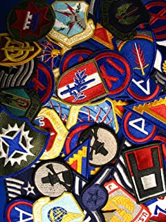 Lot of 60 Assorted US Military Army /& Air Force Unit Insignia Subdued Patches