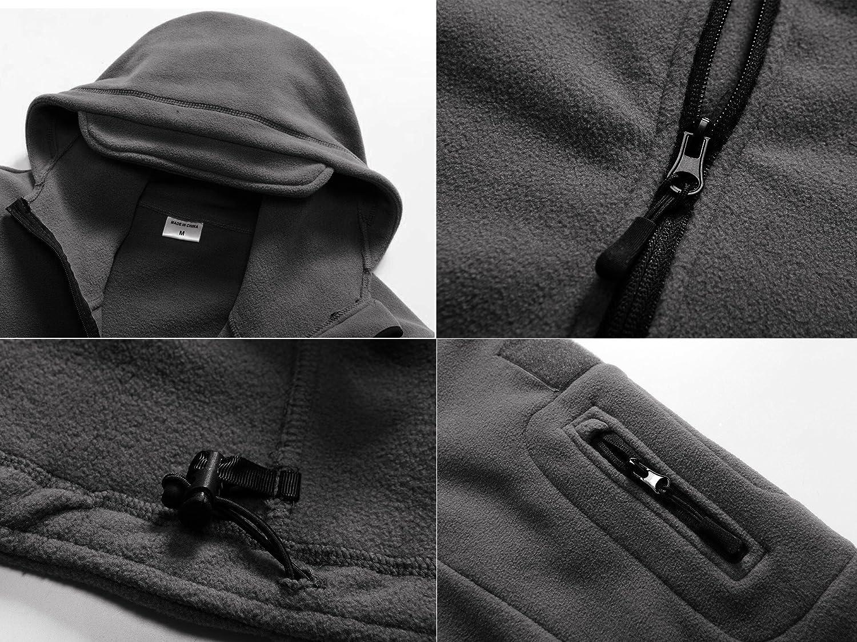 MAGCOMSEN Men s Windproof Warm Military Tactical Fleece Jacket with Hood