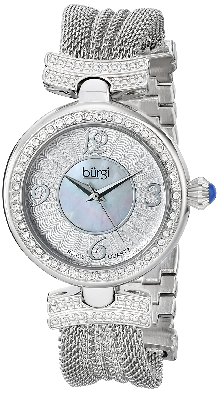 Burgi Damen-Armbanduhr Analog Quarz BUR110SS