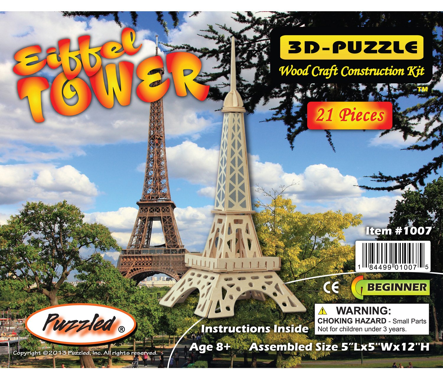 新しい季節 3-D Wooden Puzzle - Wooden Small Eiffel DCHI-WPZ-P030A Tower One -Affordable Gift for your Little One Item DCHI-WPZ-P030A B004QDTK8U, グレーチングの宝機材:3152b1dd --- quiltersinfo.yarnslave.com