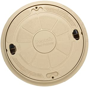 Pentair 85018000 9-Inch Beige Complete Lid with Ring Seat Replacement Admiral Pool and Spa Skimmer