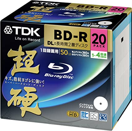 Japan Import-No Warranty BD-R 1 layer: 4-speed 50 sheets pack SONY video for Blu-ray disc 50BNR1VJPP4