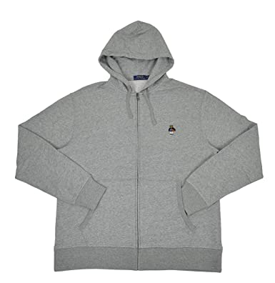 Polo Ralph Lauren Men s Big   Tall USA Basketball Polo Bear Full Zip Fleece  Hoodie Sweater 17cc59e81