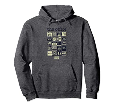 978426a08 Amazon.com: The Office Quote Mash-Up Hooded Sweatshirt: Clothing