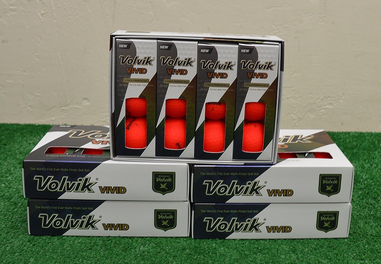 Balls 5 Dozen 2018 Volvik Vivid - Matte Red Golf
