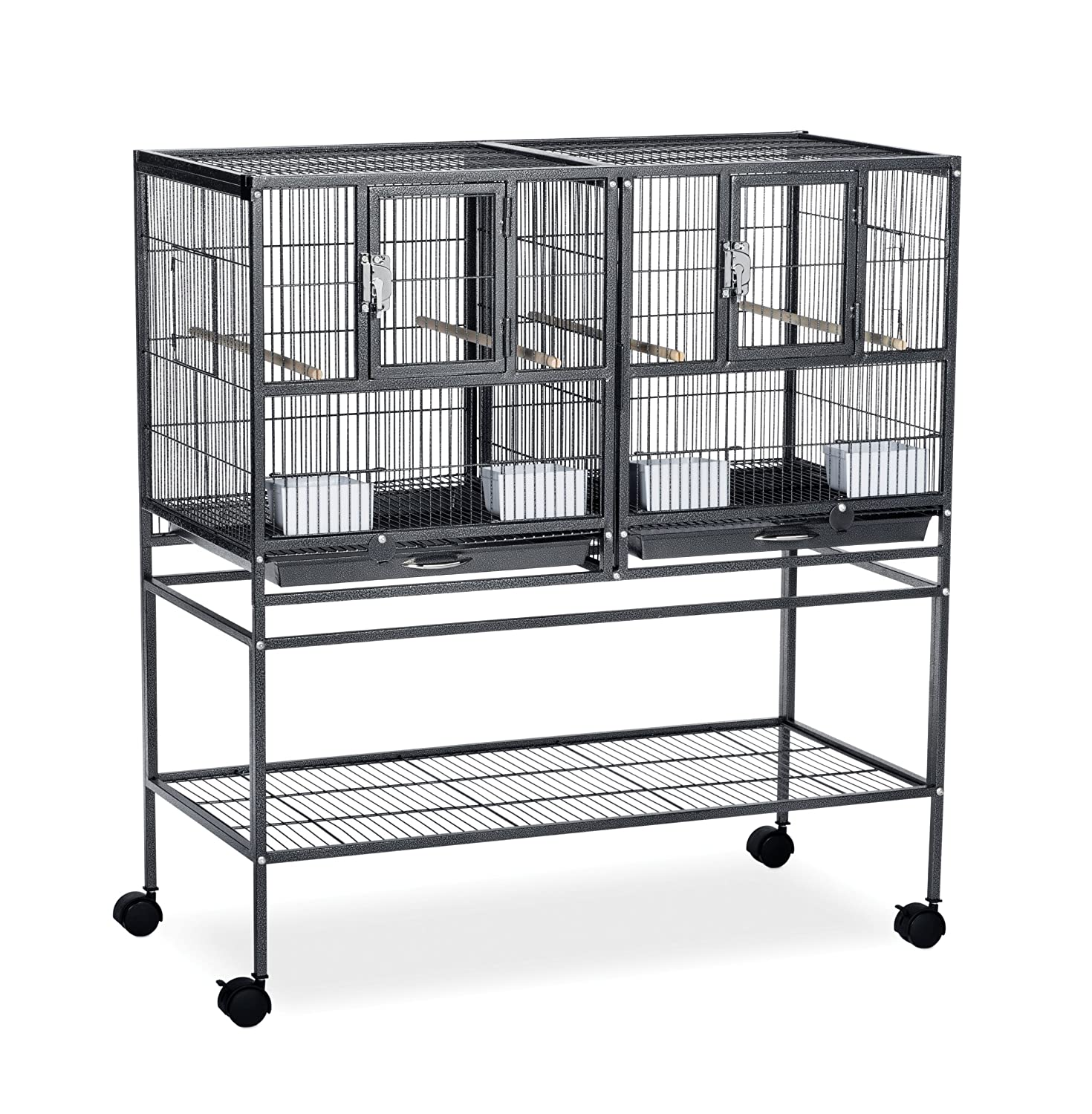 Prevue Pet Products Hampton Deluxe Divided Breeder Cage System with Stand Inc. F070