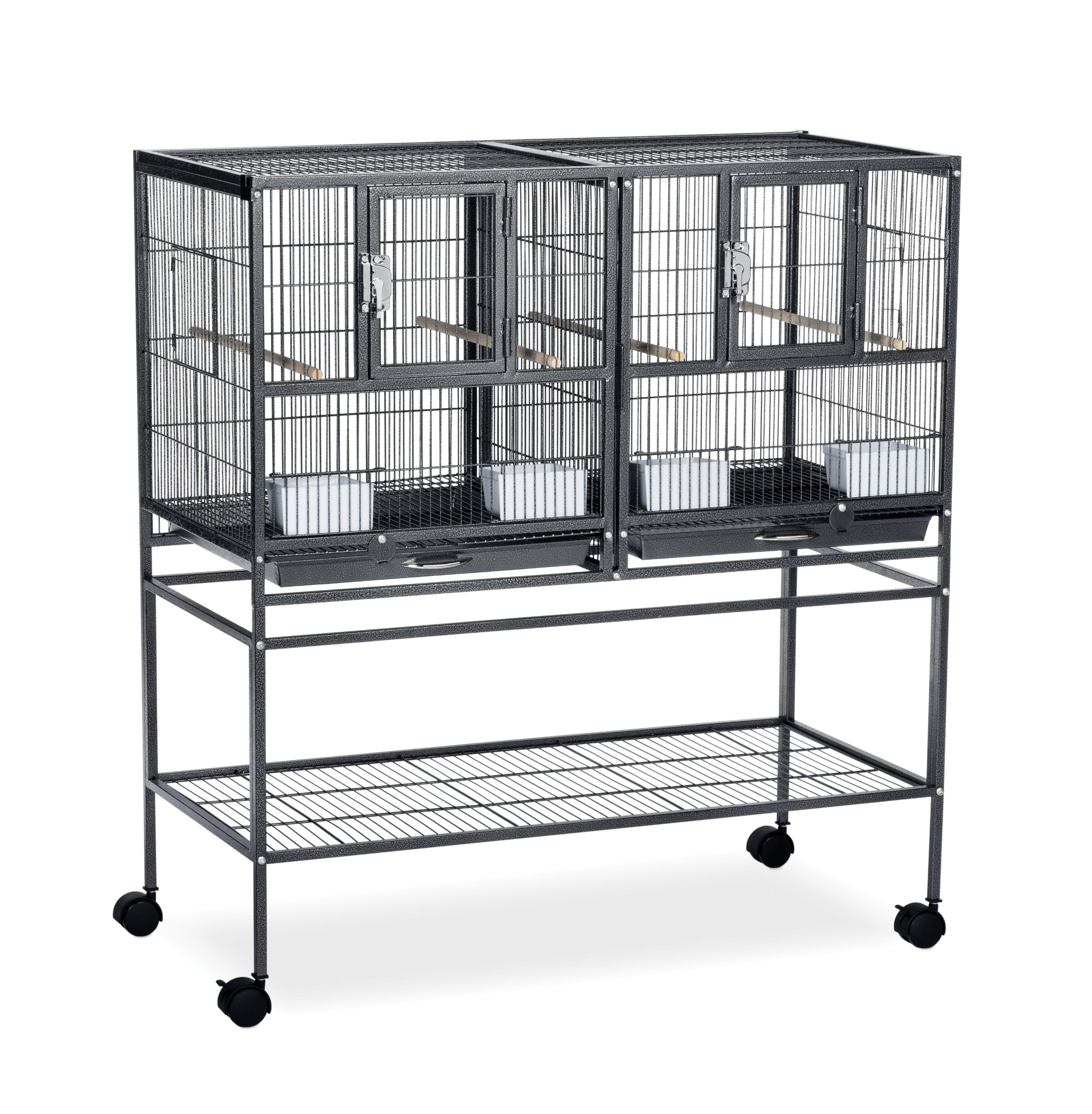 Prevue Pet Products F070 Hampton Deluxe Divided Breeder Cage with Stand by Prevue Pet Products (Image #1)