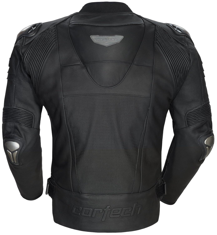 LARGE BLACK//BLUE Cortech Adrenaline 2.0 Leather Jacket 8971-0202-06
