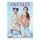 McCalls Pattern M7496 Girls Nightgown and Pj Set