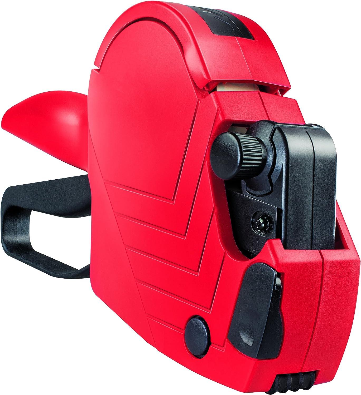 Meto Arrow S 9505490 - Juego de etiquetadora de Precios (1 línea, 8 Cifras, para Etiquetas de 22 x 12 mm, Lista para Usar), Color Rojo y Negro