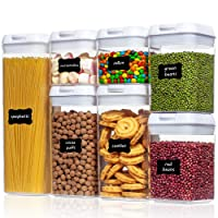 Deals on Vtopmart 7 Pieces Airtight Food Storage Containers w/Easy Lock Lids