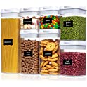 Vtopmart 7-Pieces Airtight Food Storage Containers with Easy Lock Lids