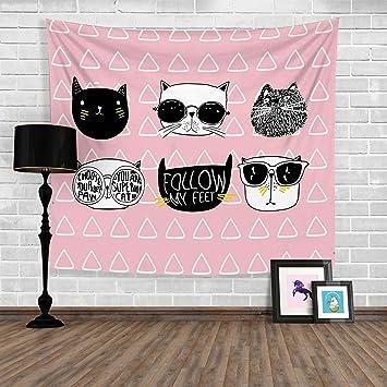 Katzen Hängen Tuch Hintergrund Tuch Tischdecken Schlafzimmer Wohnzimmer  Dekorative Tuch Wand Tuch Partition Vorhänge , 7