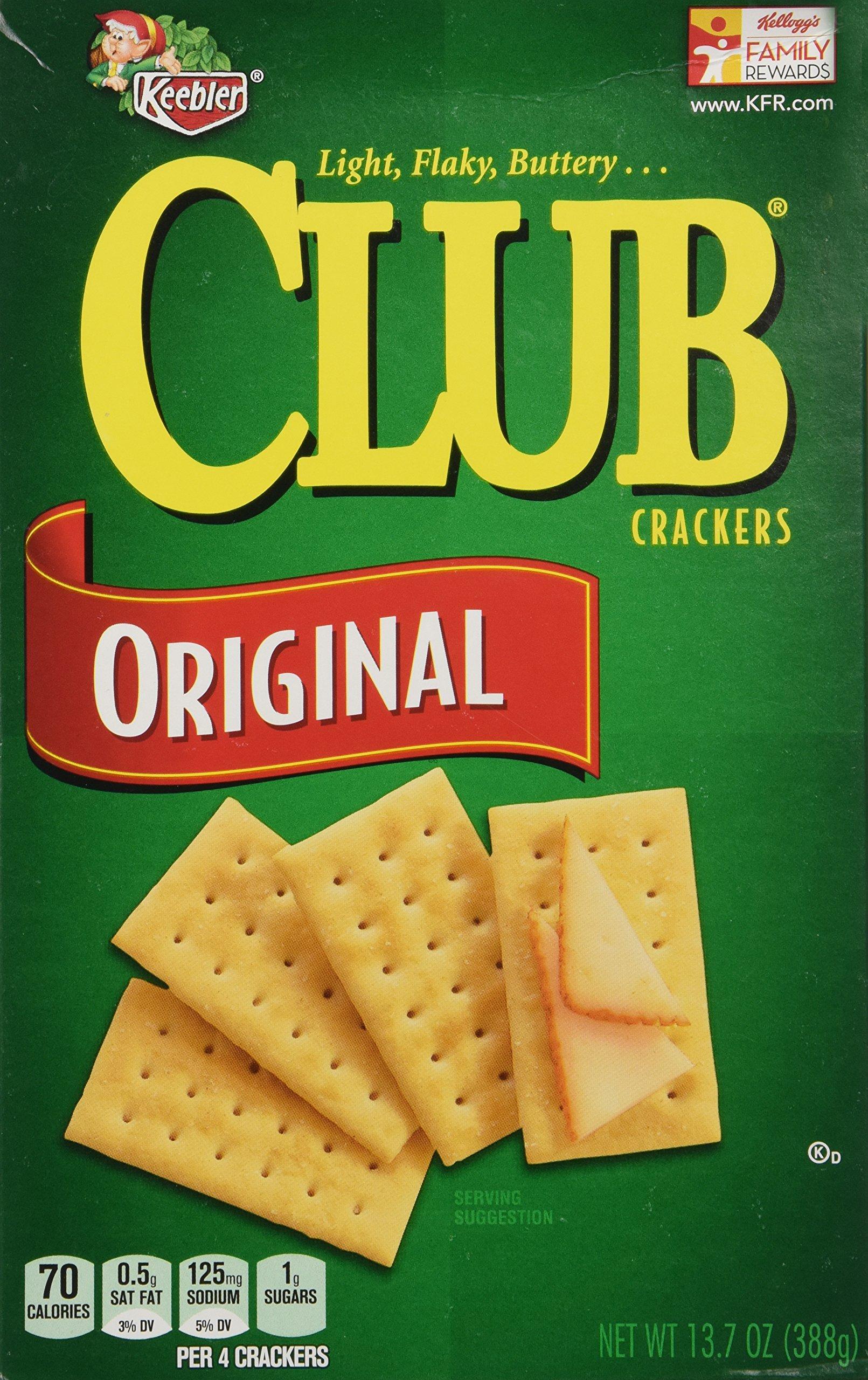 Keebler Club Crackers Original, 13.7 Oz. (Pack of 3) by Keebler