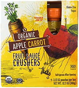 Trader Joe's Organic Apple Carrot Fruit Sauce Crushers