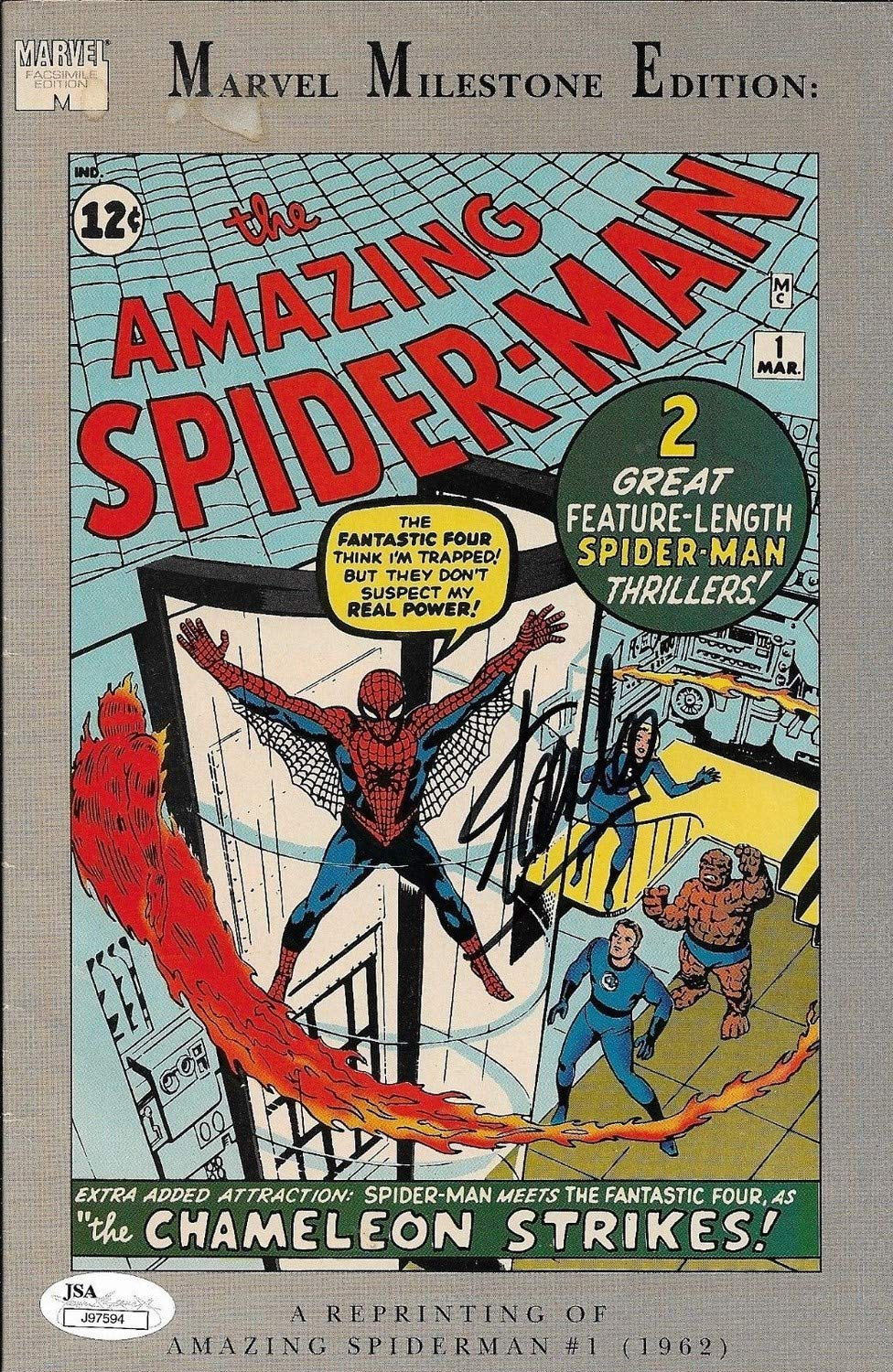 Stan Lee Autographed Signed The Amazing Spider Man Comic Book Reprint JSA Authentic