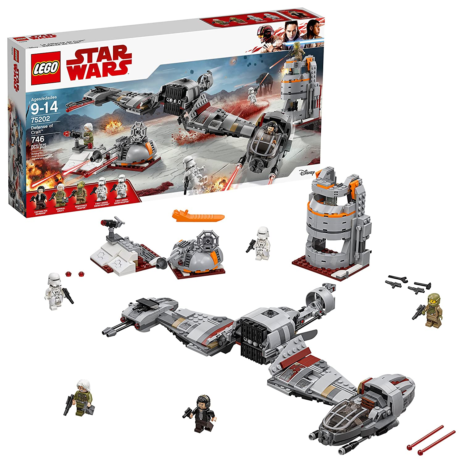LEGO Star Wars 6212564 Defense of Crait™ 75202 Building Kit (746 Piece)