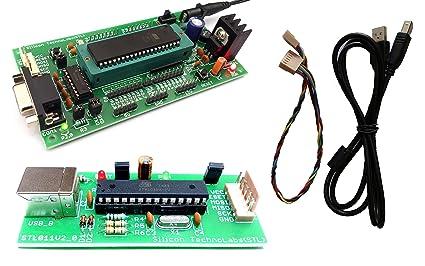 amazon in buy silicon technolabs atmel 8051 development boardP89v51rd2 Programmer Circuit #20