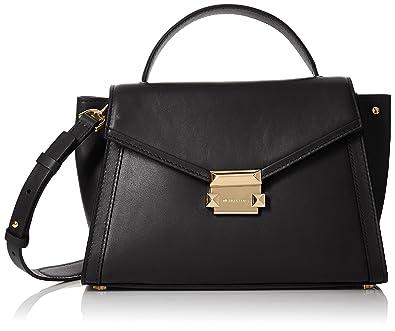 145a86db5521e9 Amazon.com: Michael Kors Womens M Group Satchel Black (Black): Shoes