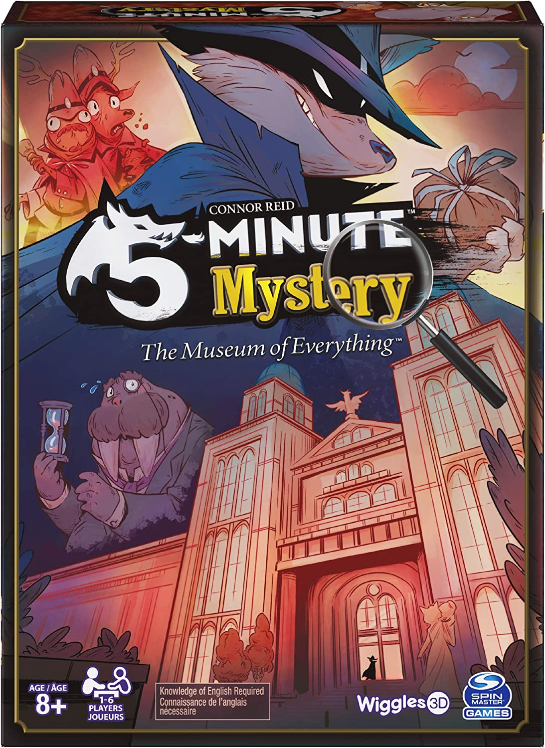 Spin Master Games 5-Minute Mystery The Museum of Everything Game, for Adults and Kids Ages 8 and up